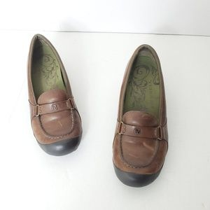 Merrell Brown Leather Flats Walking Shoes Size 7.5